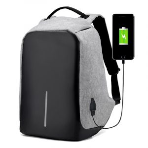 Men's Backpack with USB Charge Port