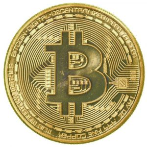 Gold Plated Collectible Bitcoin Coin - Gold