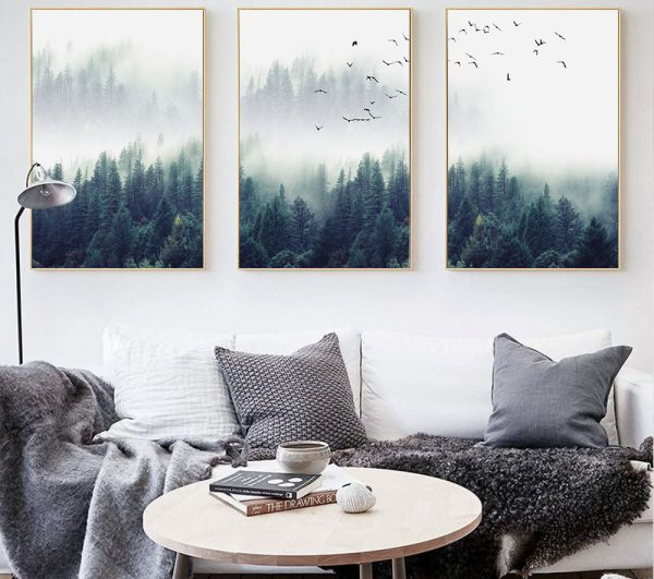 Canvas Wall Art - Nordic Forest Landscape - 1