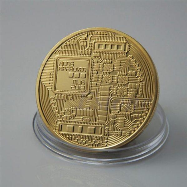 Collectible Bitcoin Coin - Back