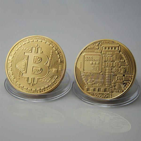 Collectible Bitcoin Coin - Gold Both Sides