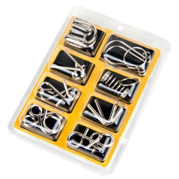 Metal-Brain-Teaser-Puzzle-Set-Box