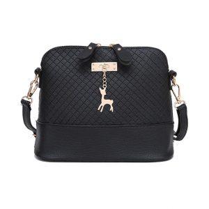 Women's Shoulder Mini Bag - Deer Toy - black