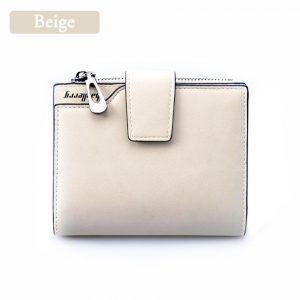 Women's Vintage Leather Purse - Beige