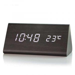 Wooden-LED-Alarm-Clock