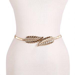 Women's Skinny Metallic Belt