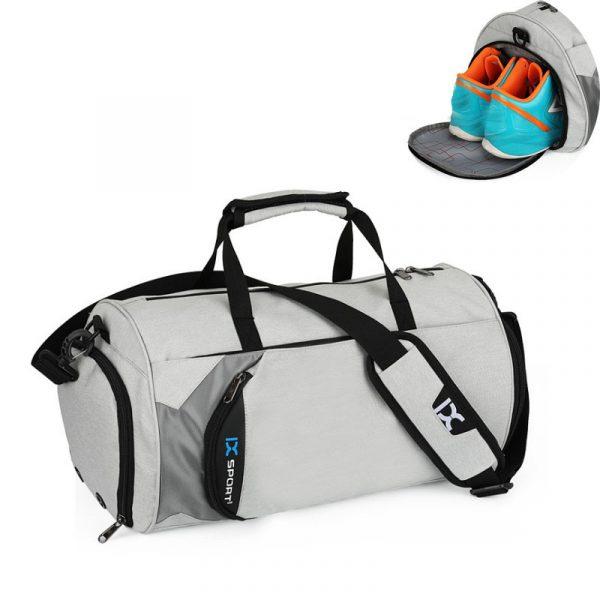 Men's Cylindrical Sports Gym Bag