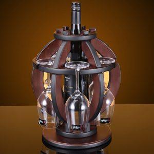 Vintage Lantern Wine Rack