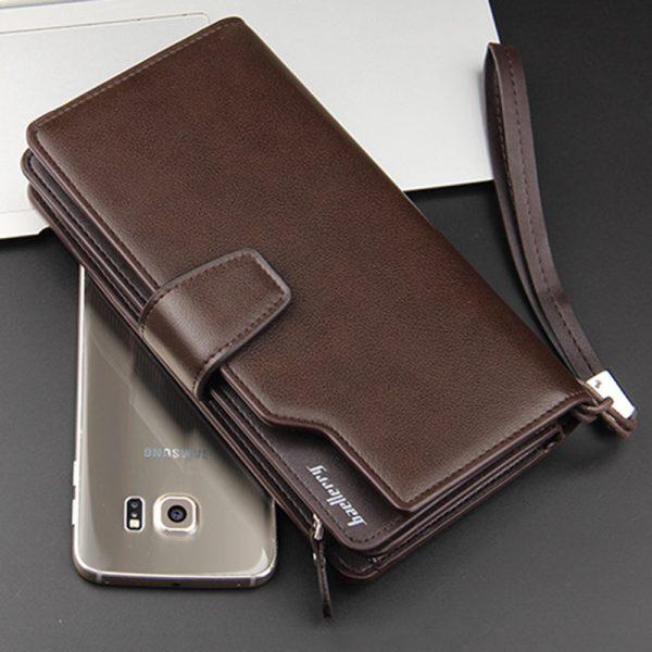 Long Men's Leather Multi-Function Wallet - Comparison