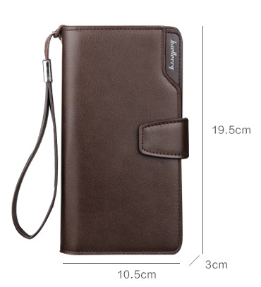 Long Men's Leather Multi-Function Wallet - Size