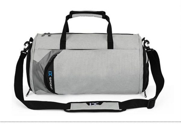 Men's Cylindrical Sports Gym Bag - Front