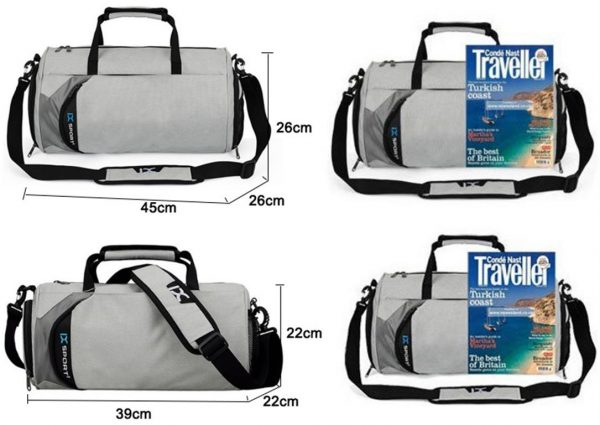 Men's Cylindrical Sports Gym Bag - Size