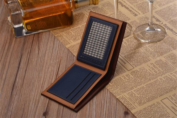 Men's Leather Short Slim Wallet - Detail2