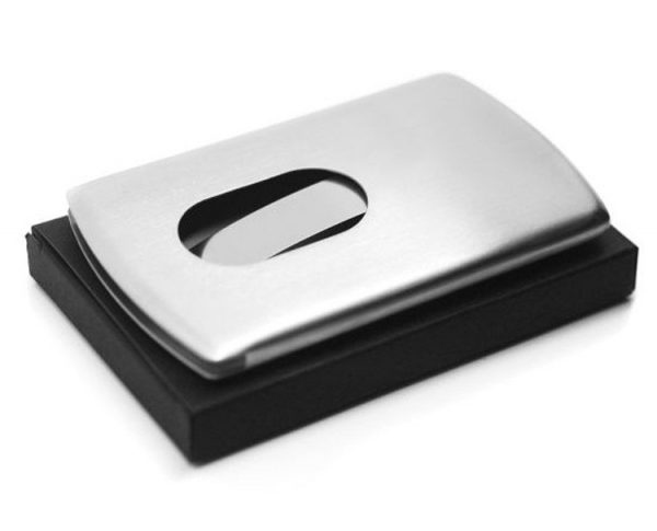 Stainless Steel Business Card Holder - Profile