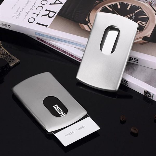Stainless Steel Business Card Holder - Sample