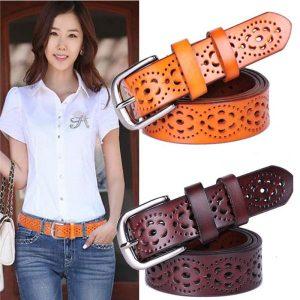 Womens-Wide-Genuine-Leather-Belt