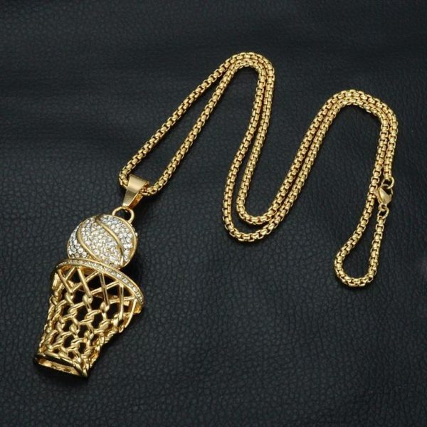 Basketball Hoop Pendant With Chain - Bling Collection - Chain