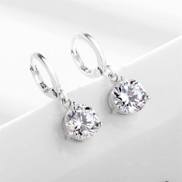 Colorful Zircon Jewelry Sets for Women - Earrings