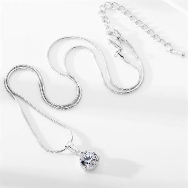 Colorful Zircon Jewelry Sets for Women - Necklace