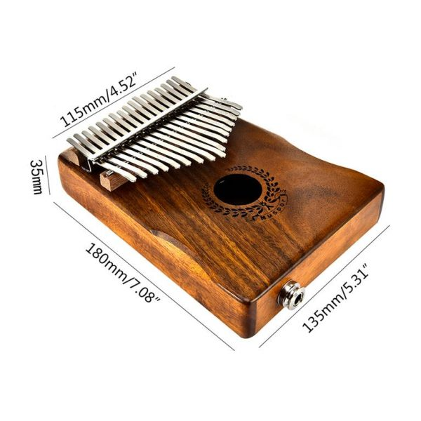 Kalimba - 17 Key Thumb Piano - Dimensions