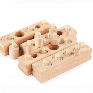 Montessori Wooden Cylinder Blocks