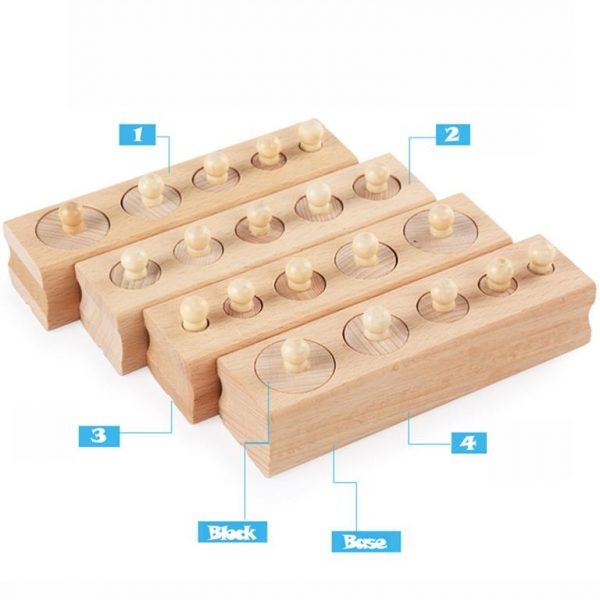 Montessori Wooden Cylinder Blocks - 4
