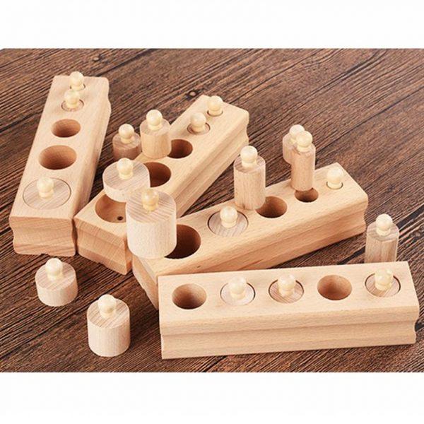 Montessori Wooden Cylinder Blocks - 6