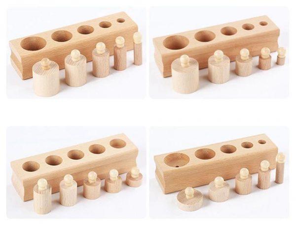 Montessori Wooden Cylinder Blocks - Cylinders
