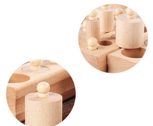 Montessori Wooden Cylinder Blocks - Detail