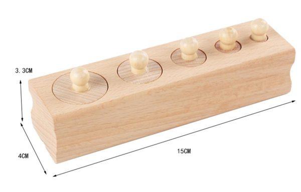 Montessori Wooden Cylinder Blocks - Dimensions