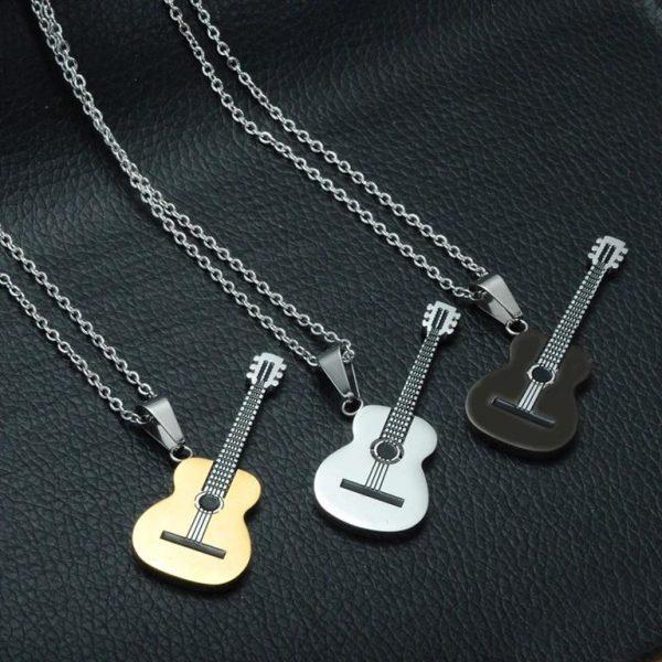 Rock Guitar Pendant Necklace for Men - Colours