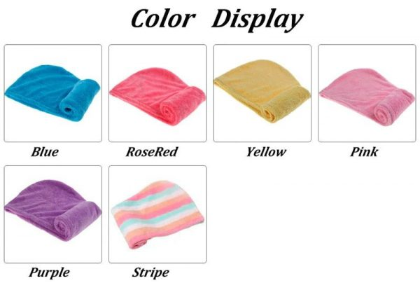 Women's Super Absorbent Quick-Drying Hair Towel - Colour