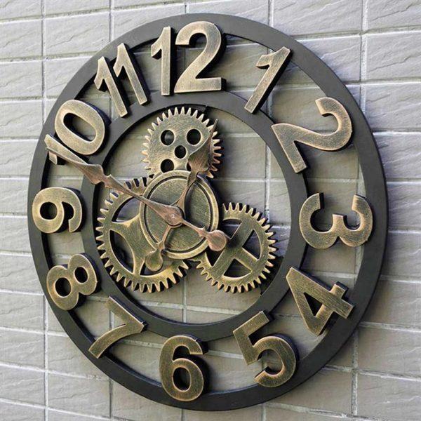 Antique-3D-Gear-Wall-Clock
