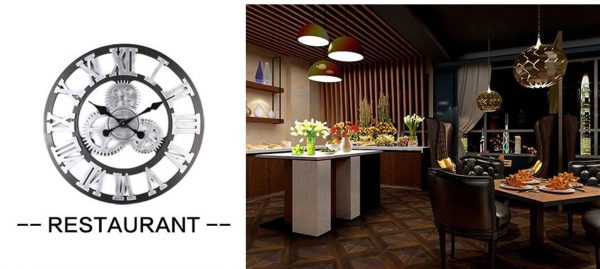 Antique 3D Wall Clock - restaurant