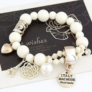 Charms Bracelet With Crystals And Beads