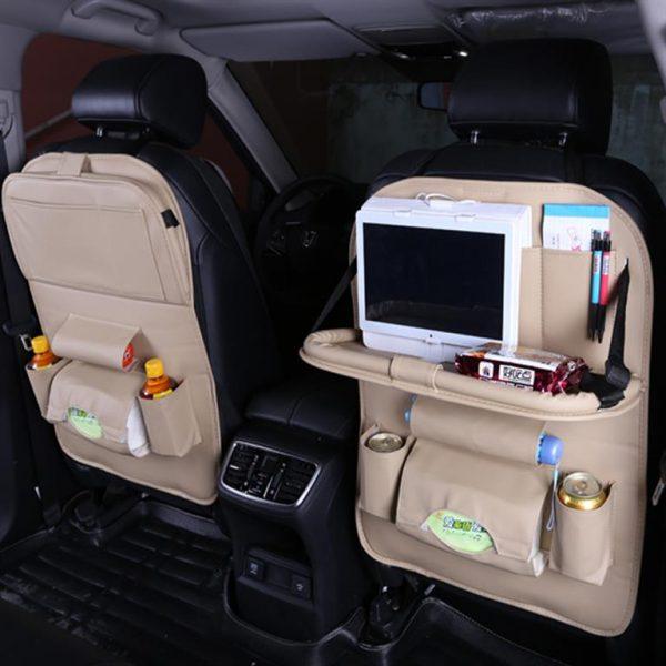 Multi-function Car Seat Organizer - White 3