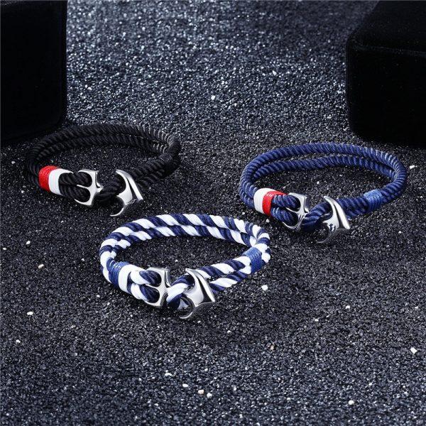 Nautical Anchor Bracelet For Men - Sample 1