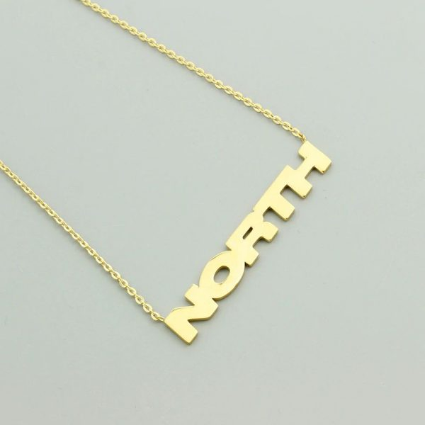 Personalized Name Pendant With Chain - 4