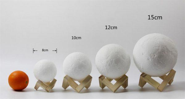 3D Night Light Moon Lamp - 6