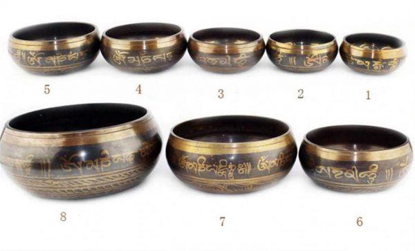 Decorative Tibetan Bowl Singing Bowl - Size 1