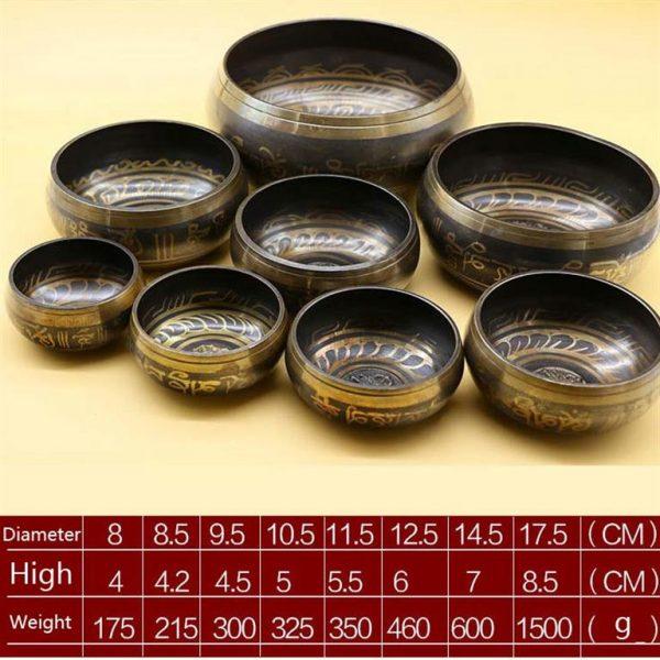 Decorative Tibetan Singing Bowl - dark