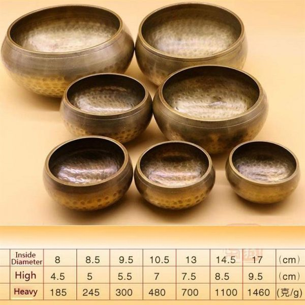 Decorative Tibetan Singing Bowl - light