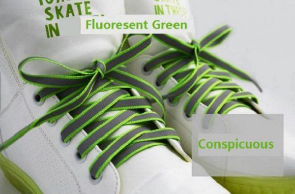 Luminous Glowing Shoelaces - green