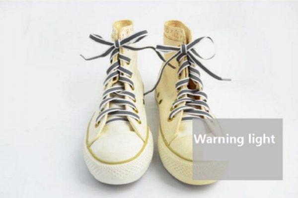 Luminous Glowing Shoelaces - grey