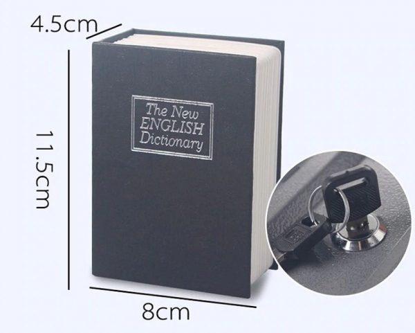 Mini Book Piggy Bank - Dimensions