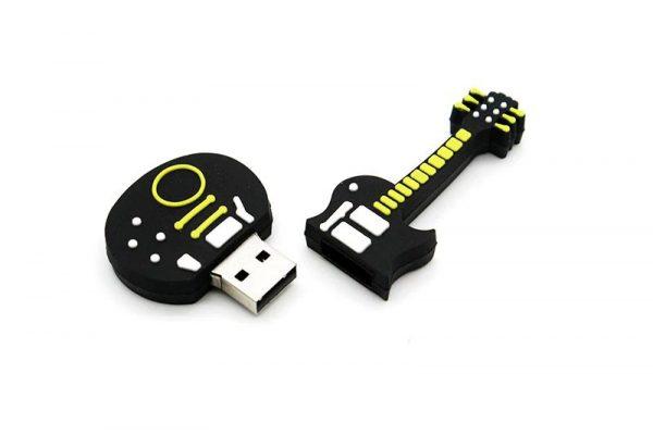 Musical Instrument USB Drive - Guitar 3 Open
