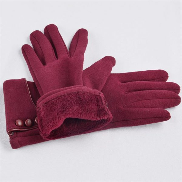 Women's Winter Gloves With Touch Screen Capability - red