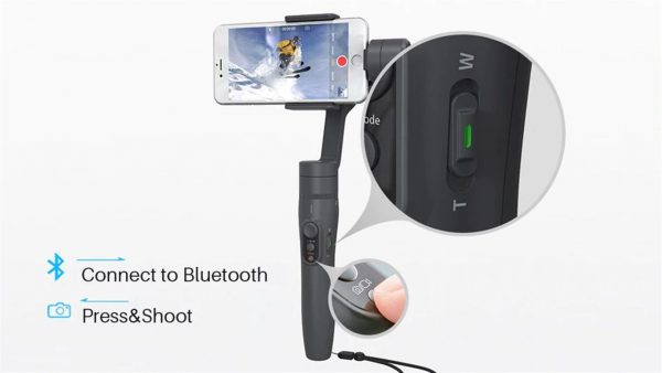 3-Axis Handheld Gimbal Stabilizer For Smartphone - Bluetooth