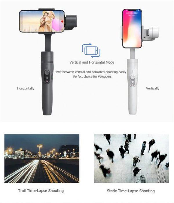 3-Axis Handheld Gimbal Stabilizer For Smartphone - verthoriz