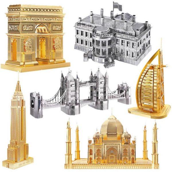 3D Metal Model Building Kits - Famous Buildings